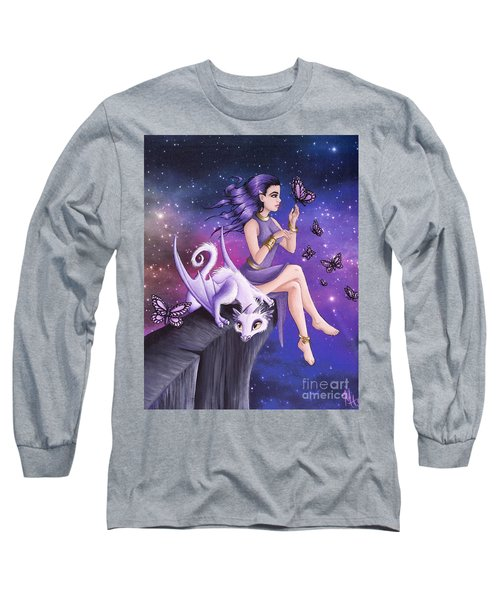 Violet Night Fantasy Long Sleeve T-Shirt