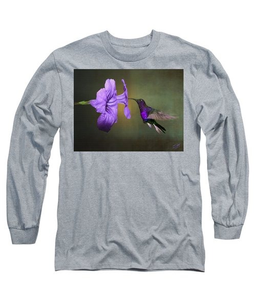 Violet Sabrewing Hummingbird Long Sleeve T-Shirt