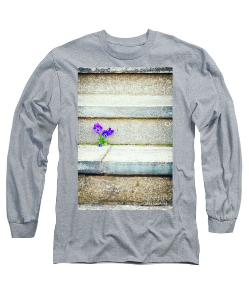 Long Sleeve T-Shirt featuring the photograph Violets    by Silvia Ganora