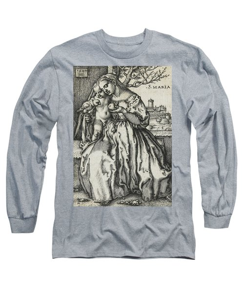 Virgin And Child With A Parrot Long Sleeve T-Shirt