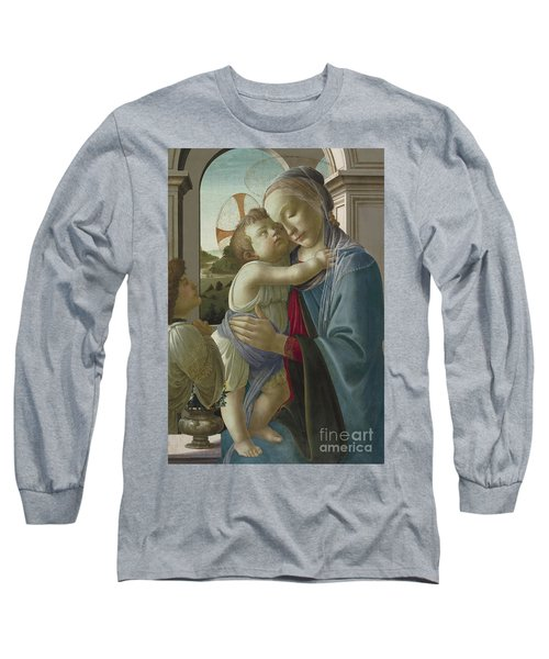Virgin And Child With An Angel Long Sleeve T-Shirt