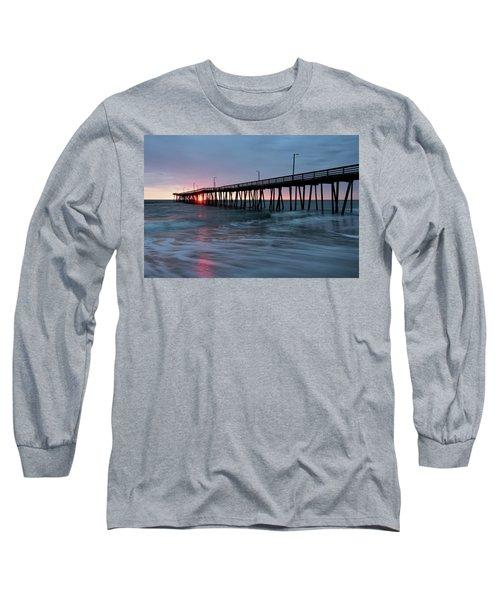 Virginia Beach Fishing Pier Long Sleeve T-Shirt