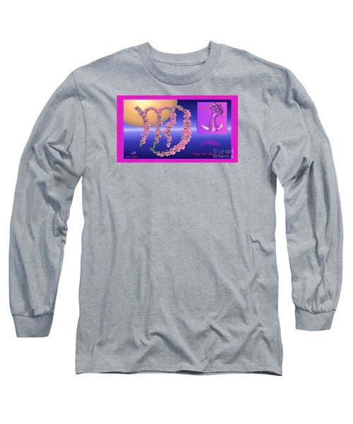 Long Sleeve T-Shirt featuring the digital art Virgo by The Art of Alice Terrill