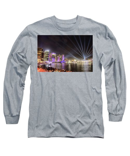 Long Sleeve T-Shirt featuring the photograph Vivid Sydney Skyline By Kaye Menner by Kaye Menner