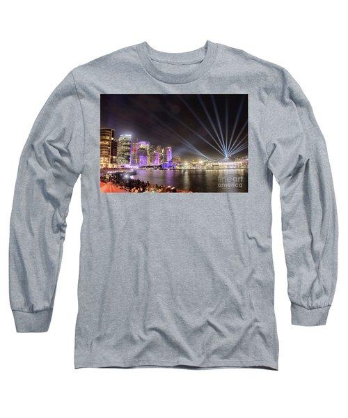Vivid Sydney Skyline By Kaye Menner Long Sleeve T-Shirt