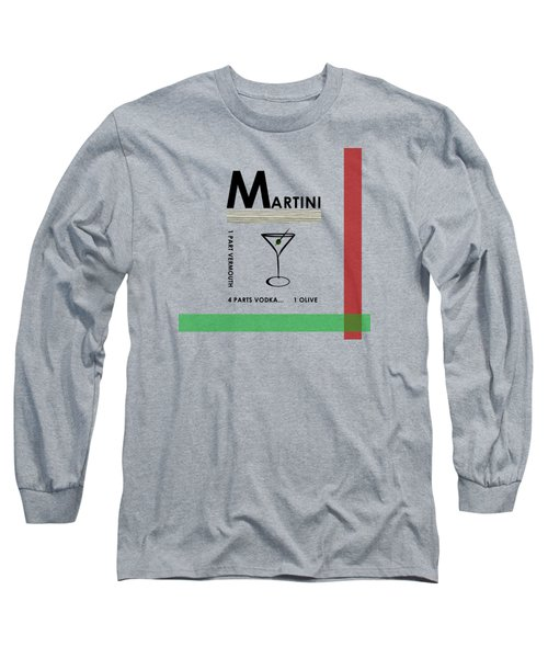 Vodka Martini Long Sleeve T-Shirt by Mark Rogan