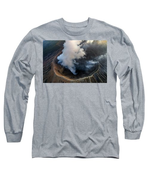 Volcanic Crater From Above Long Sleeve T-Shirt