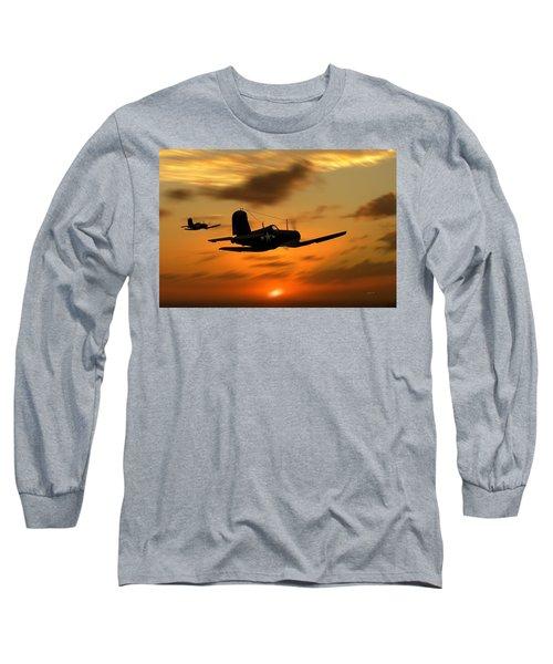 Vought Corsairs At Sunset Long Sleeve T-Shirt