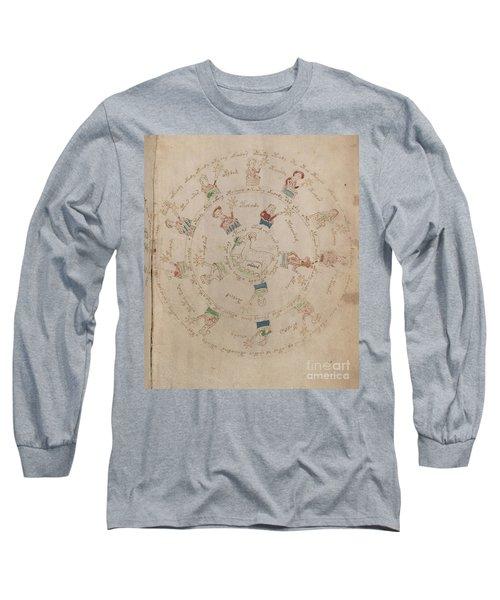 Voynich Manuscript Astro Aries Long Sleeve T-Shirt