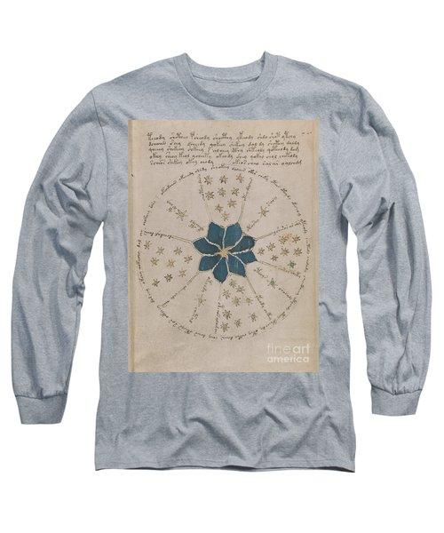 Voynich Manuscript Astro Rosette 2 Long Sleeve T-Shirt