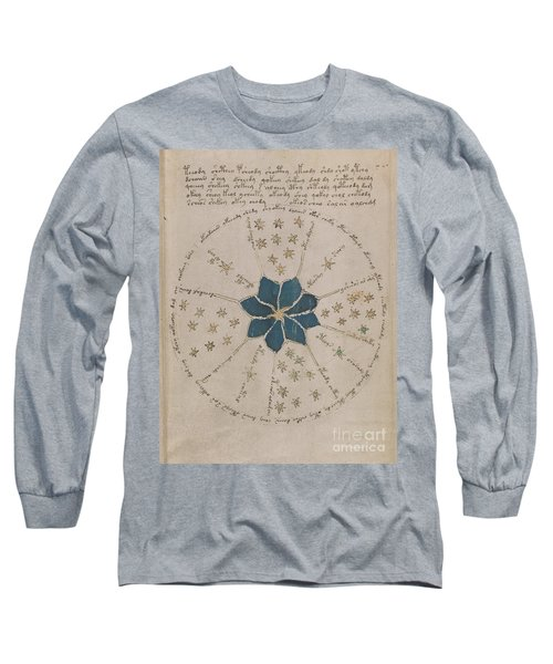 Voynich Manuscript Astro Rosette 2 Long Sleeve T-Shirt