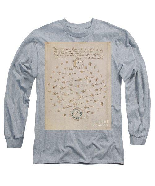 Voynich Manuscript Astro Sun And Moon 1 Long Sleeve T-Shirt
