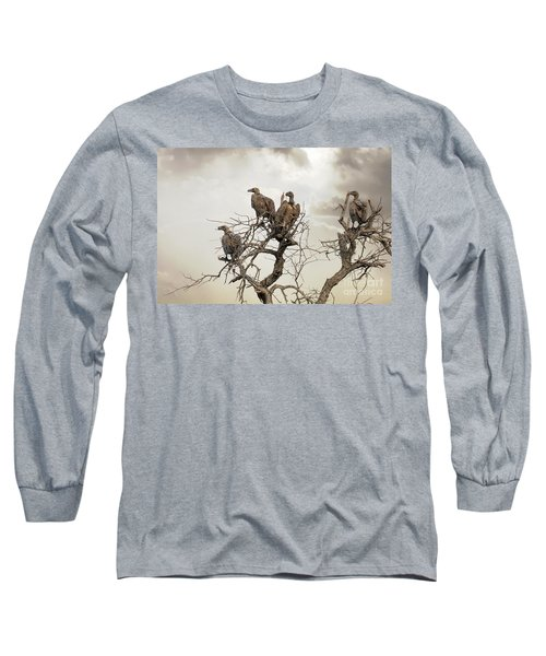 Vultures In A Dead Tree.  Long Sleeve T-Shirt