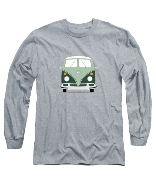 Vw Bus Green Long Sleeve T-Shirt by Mark Rogan