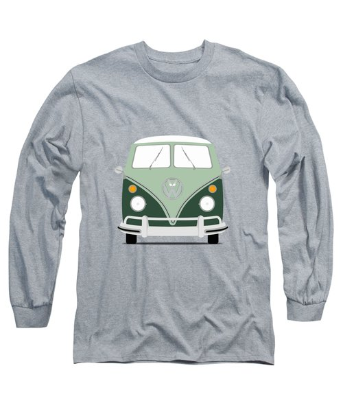 Vw Bus Green Long Sleeve T-Shirt