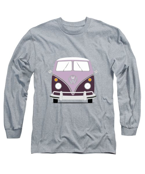 Vw Bus Purple Long Sleeve T-Shirt