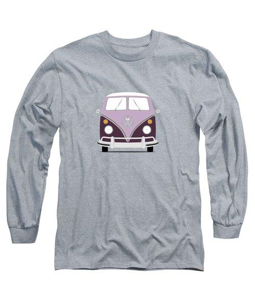Vw Bus Purple Long Sleeve T-Shirt