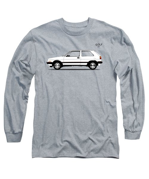 Vw Golf Gti Long Sleeve T-Shirt by Mark Rogan