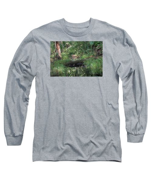 Wading Through The Swamp Long Sleeve T-Shirt by Kenneth Albin