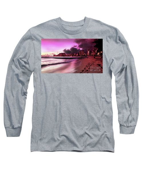 Waikiki Twilight Long Sleeve T-Shirt by Kristine Merc