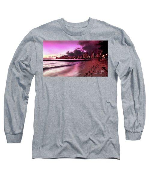 Waikiki Twilight Long Sleeve T-Shirt