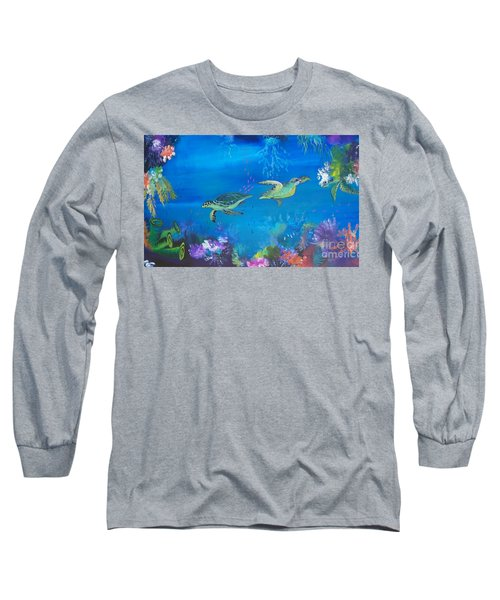 Long Sleeve T-Shirt featuring the painting Wait For Me by Lyn Olsen