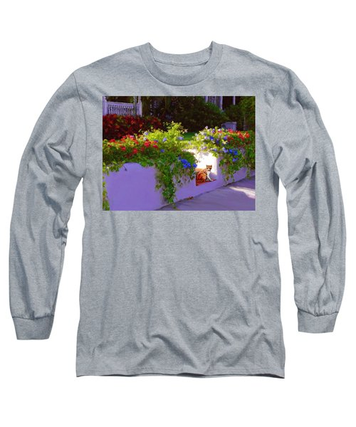 Long Sleeve T-Shirt featuring the painting Waiting For Friends by David  Van Hulst