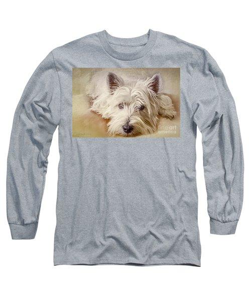 Waiting For Papa Long Sleeve T-Shirt by Jean OKeeffe Macro Abundance Art