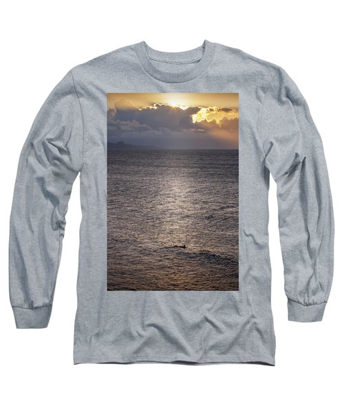 Waiting For The Last Wave Of The Day Long Sleeve T-Shirt