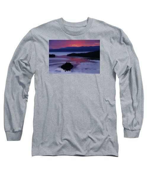 Wake Up In Lake Tahoe  Long Sleeve T-Shirt by Sean Sarsfield