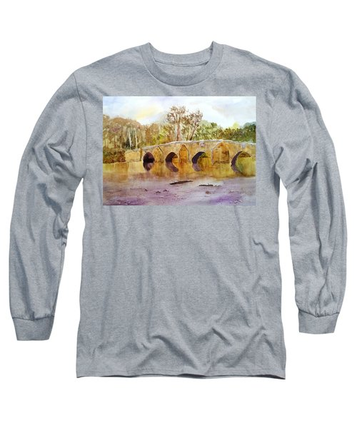 Wales Dipping Bridge Long Sleeve T-Shirt by Larry Hamilton
