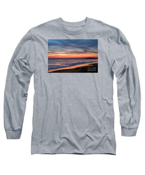 Wales Gower Coast Dusk Long Sleeve T-Shirt