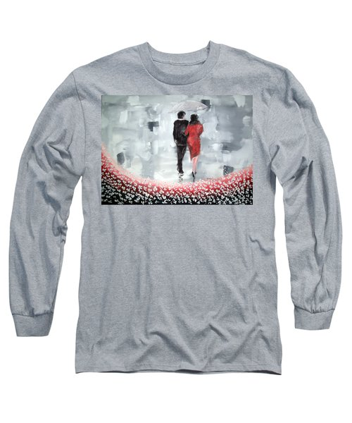 Long Sleeve T-Shirt featuring the painting Walk In The Garden by Raymond Doward