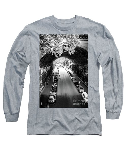Long Sleeve T-Shirt featuring the photograph Walk The Tunnel by Perry Webster