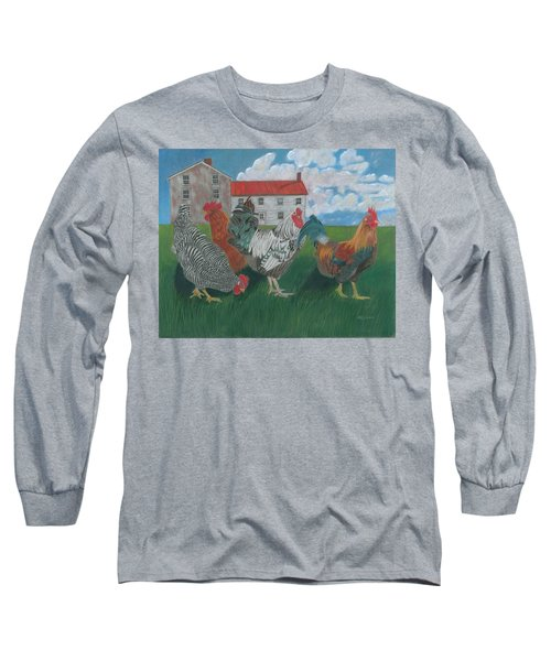 Walk This Way Long Sleeve T-Shirt by Arlene Crafton