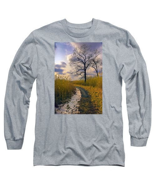 Walk With Me Long Sleeve T-Shirt by John Rivera