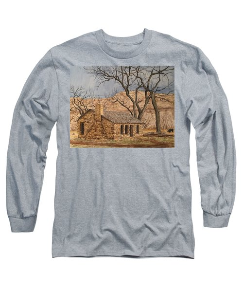 Walker Homestead In Escalante Canyon Long Sleeve T-Shirt