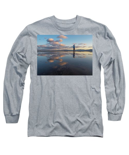 Walking In The Sunset Long Sleeve T-Shirt
