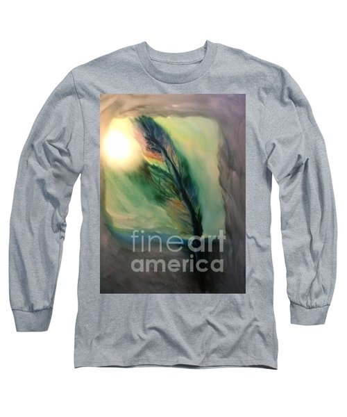 Long Sleeve T-Shirt featuring the painting Walking In Your Light  by FeatherStone Studio Julie A Miller
