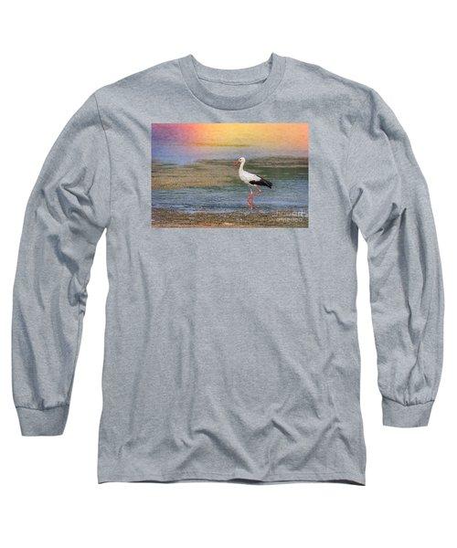 Long Sleeve T-Shirt featuring the photograph Walking by Jivko Nakev