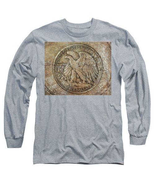 Walking Libery Half Dollar Reverse Long Sleeve T-Shirt