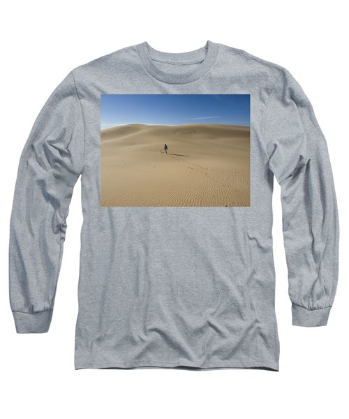 Walking On The Sand Long Sleeve T-Shirt by Tara Lynn