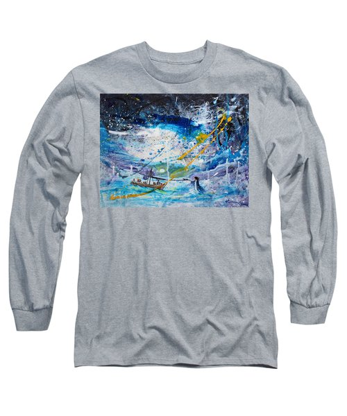 Walking On The Water Long Sleeve T-Shirt by Kume Bryant