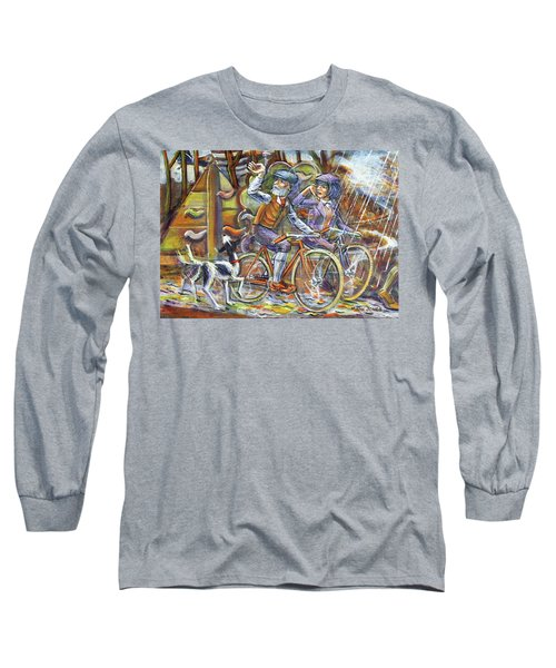 Walking The Dog 3 Long Sleeve T-Shirt