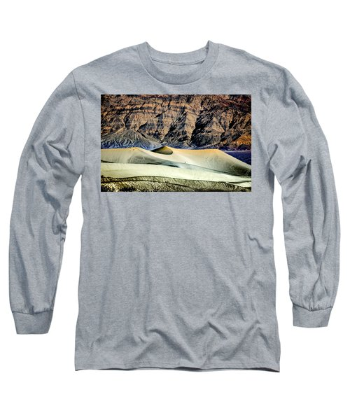 Walking The Dunes In Death Valley Long Sleeve T-Shirt