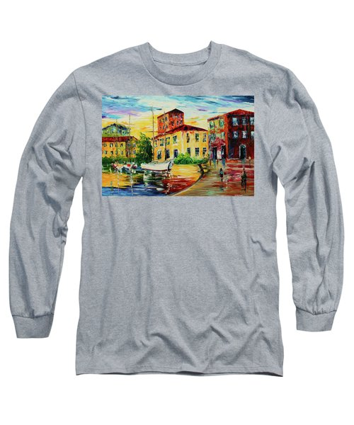 Walking The Harbor Long Sleeve T-Shirt