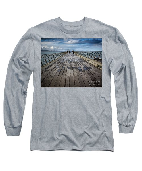 Long Sleeve T-Shirt featuring the photograph Walking The Pier by Perry Webster