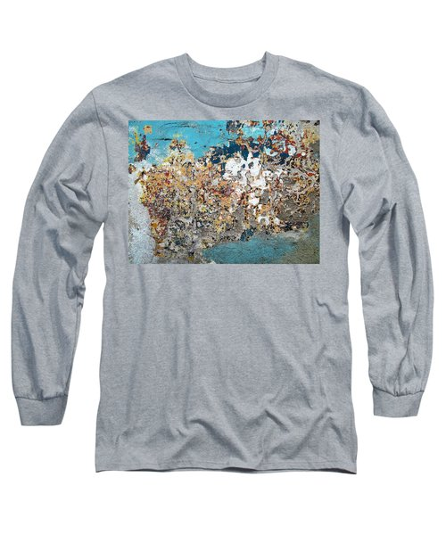 Wall Abstract 106 Long Sleeve T-Shirt by Maria Huntley