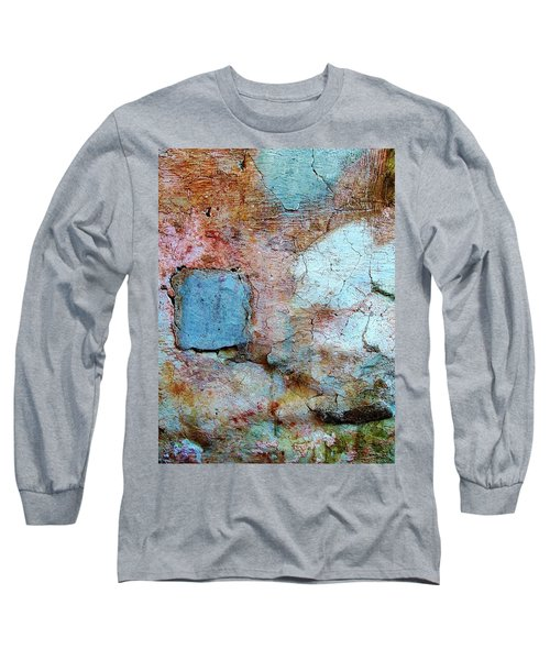 Wall Abstract 138 Long Sleeve T-Shirt by Maria Huntley
