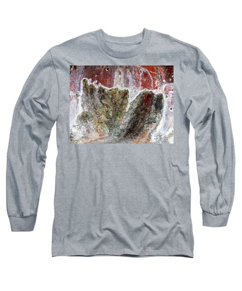Wall Abstract 144 Long Sleeve T-Shirt by Maria Huntley